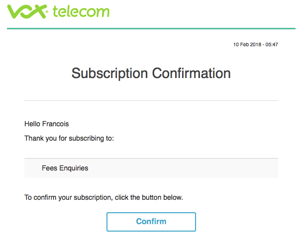 email change of service provider how to redirect